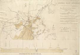 Map Of Boston And Surrounding Area by Early Sanitation In Boston Histories Of The Calf Pasture Pumping