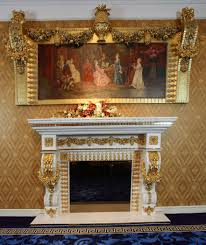 luxury french louis xv wooen fireplace mantel for electric firebox