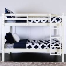 White Wooden Bunk Bed Wooden Bunk Beds Durable Solid Wood Bunk Beds