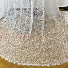 Lace Fabric For Curtains Online Get Cheap Chantilly Lace Curtains Aliexpress Com Alibaba