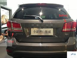 dodge journey tail light chrome rear l taillight cover trim 4 pcs for dodge journey jcuv