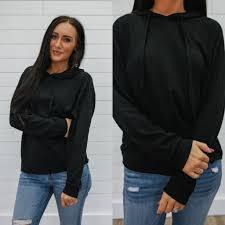 black hooded sweatshirt online clothing boutique