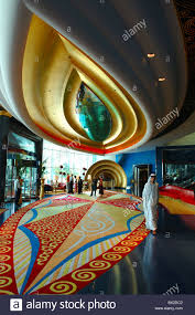 burj al arab hotel lobby inside luxury architecture skyscraper