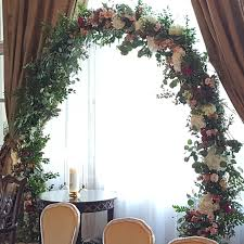 wedding arches newcastle wedding ring circle arch seattle wedding flowers by posh