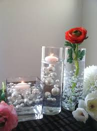Vases With Floating Candles How To Diy Fl Oating Pearls Centerpieces Floating Pearls