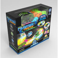 twister dot 3 neon glow twister tracks race series 221 monkey fish toys