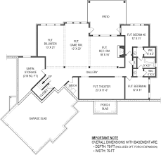 basement front base model lakefront house plan 4 bedrooms open