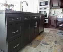 after an awkward beginning this kitchen gets a dark dramatic
