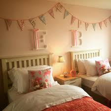Girls Bedroom In Pink Yellow And Lime Green Beautiful Twin U0027s Bedroom Beautiful Bunting Oversized