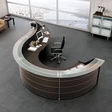 office table curved reception desk ebay black curved reception