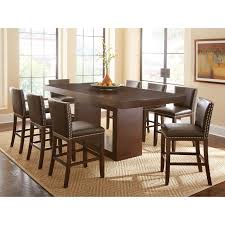 Square Dining Room Tables For 8 Steve Silver 9 Piece Antonio Counter Height Dining Table Set With