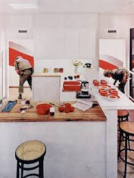 housebeautiful red stripe kitchen from the series