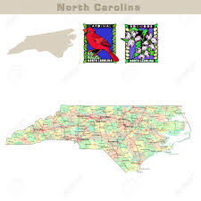 North Carolina State Map by Usa States Series North Carolina Political Map With Counties