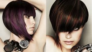 cute haircuts of bob styles with bang by hair salon the edge