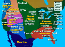 United States Map By Region by Native Americans Lessons Tes Teach