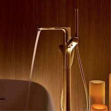 gold taps and bespoke finishes for the bathrooms hansgrohe uk free standing bath tub thermostat in gold finish