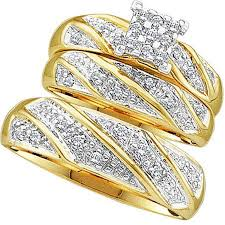cheap wedding rings for him and 0 30 carat ctw 10k yellow gold cut diamond men