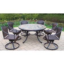 Hampton Bay Woodbury 7 Piece Patio Dining Set - patio dining sets 7 piece video and photos madlonsbigbear com