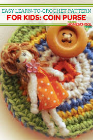 easy learn to crochet pattern for kids coin pouch modern