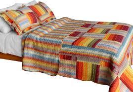 Patchwork Duvet Sets Rustic Plaid Cotton 3pc Vermicelli Quilted Patchwork Quilt Set