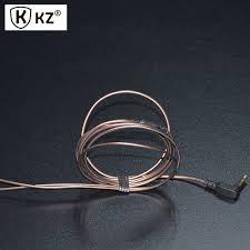 aliexpress buy hot gold plated 5mm 3 5mm tungsten kz earphone cable 3 5mm gold plated 3 pole earphone cable diy