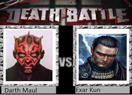 Darth Maul Meme - death battle 1 darth maul vs exar kun by goldenfreddy1 on deviantart