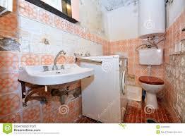 Rotten Bathroom Floor - old destroyed bathroom stock photo image 52409935