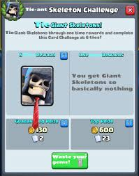 Challenge Do You Tie The Tie Ant Skeleton Challenge Clashroyale
