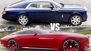 sweptail rolls royce rolls royce sweptail vs maybach 6 cabriolet crown goes to