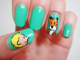 the nail artiste nail art calvin and hobbes