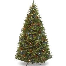artifical christmas trees 7 5ft fir hinged artificial christmas tree w ul certified led