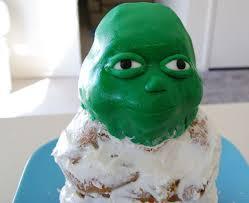 green jello how to make a yoda cake