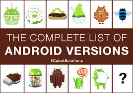 list of android versions the complete list of android versions cabot technology solution