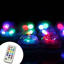 lxs 3 led multicolor submarine tea light mini l