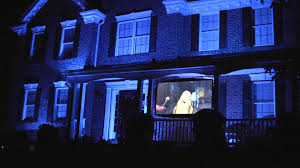 monsters inc halloween light show youtube