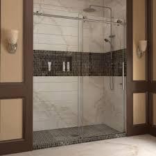 60 Shower Doors Dreamline Shdr 61607610 Enigma X 60 Sliding Shower Door