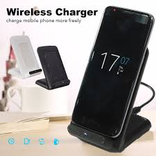 Phone Charging Stand by 3 Coils Qi Wireless Fast Charger Charging Stand Dock Holder For