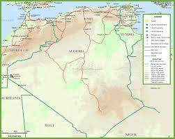 algeria physical map algeria maps maps of algeria