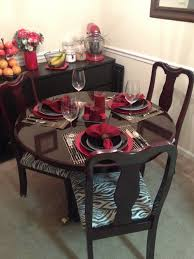 How To Set A Dining Room Table Dining Room Table Set Up With Refurbished Table And Recovered