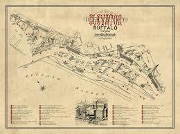 Map Of Buffalo New York by Buffalo Silo Map
