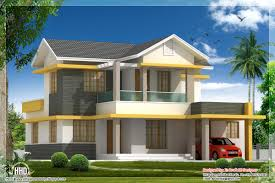 2 storey sloping roof home plan kerala home design