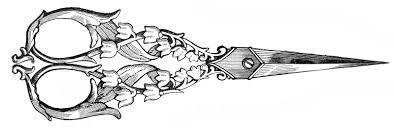 free vintage clip art ladies ornate sewing scissors sewing
