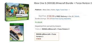 amazon black friday xbox one s deals deal alert get xbox one s 500 gb minecraft forza horizon 3