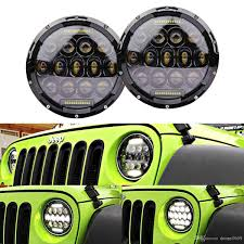 led jeep wrangler headlights 2017 7 inch led headlight 75w high beam 35w low beam with