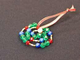 Easy Beaded Christmas Ornaments - funezcrafts easy christmas crafts spiral beaded christmas ornament