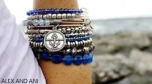 charm bead bangle bracelet images Blue beaded bangle the wire jpg