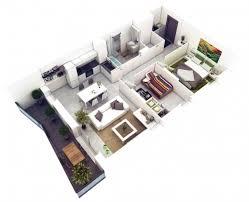 wonderful small 2 bedroom house plans 3d arts 2 bedroom 3d floor