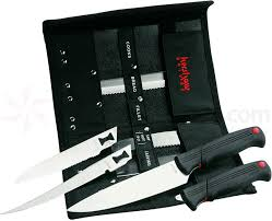 kershaw kitchen knives set kershaw 1099dbt deluxe blade trader 2 handles with 6