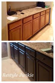 gel stain for kitchen cabinets restaining wood cabinets before after centerfordemocracy org