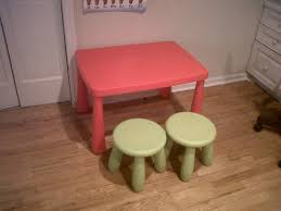 ikea childrens table pink plastic playing table with round green stools of beautiful